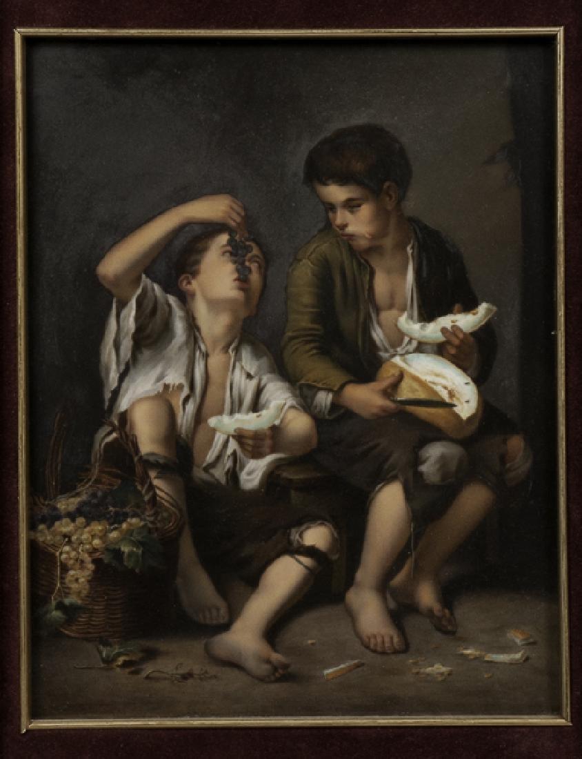 KPM Porcelain Plaque Depicting Boys - 2