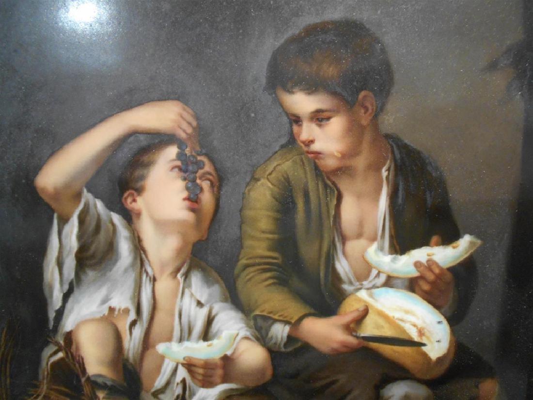 KPM Porcelain Plaque Depicting Boys - 4