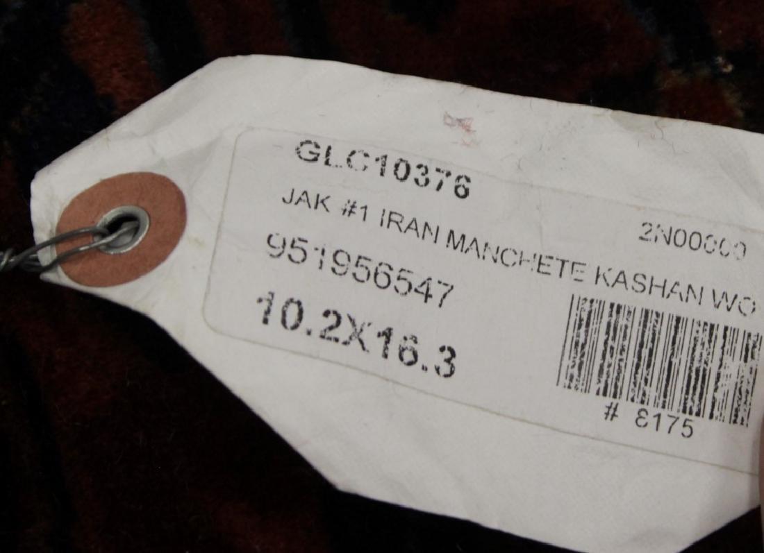ANTIQUE KASHAN MANCHESTER RUG IRAN - 7