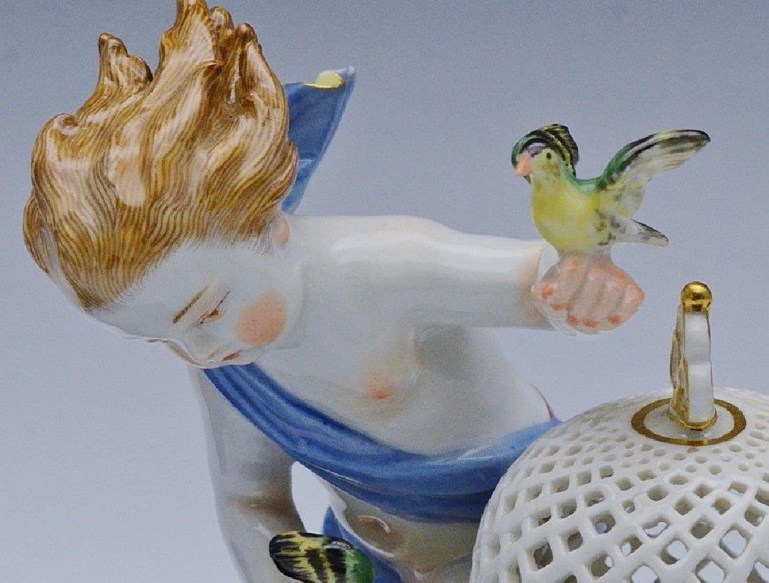 19TH CENTURY MEISSEN FIGURE OF BIRD CAGE 1ST QUALITY - 5