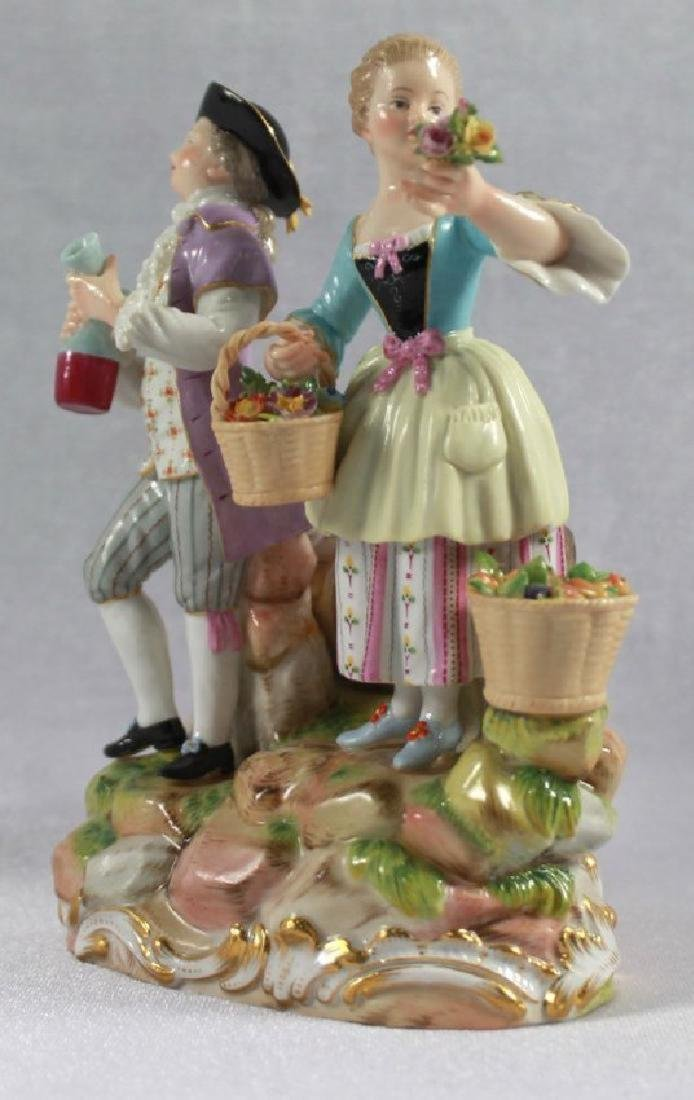 LATE 19TH C MEISSEN SAXONY GROUP OF MAN AND WOMAN - 2