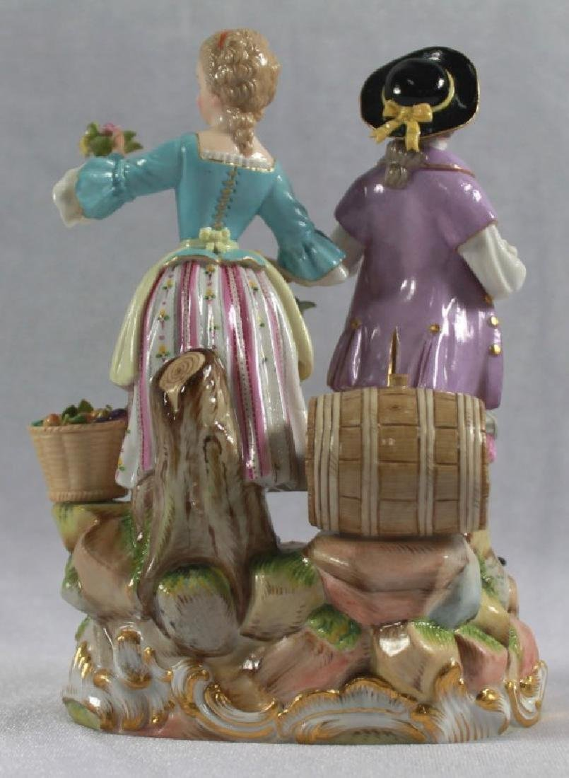 LATE 19TH C MEISSEN SAXONY GROUP OF MAN AND WOMAN - 3