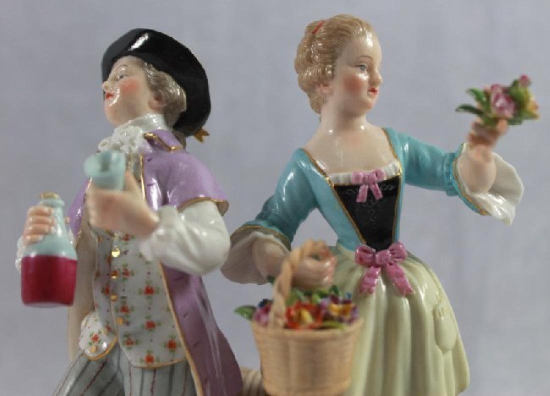 LATE 19TH C MEISSEN SAXONY GROUP OF MAN AND WOMAN - 5
