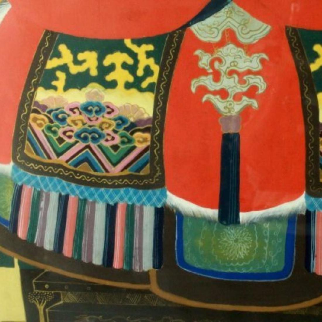 FRAMED CHINESE ANCESTOR PRINT - 6