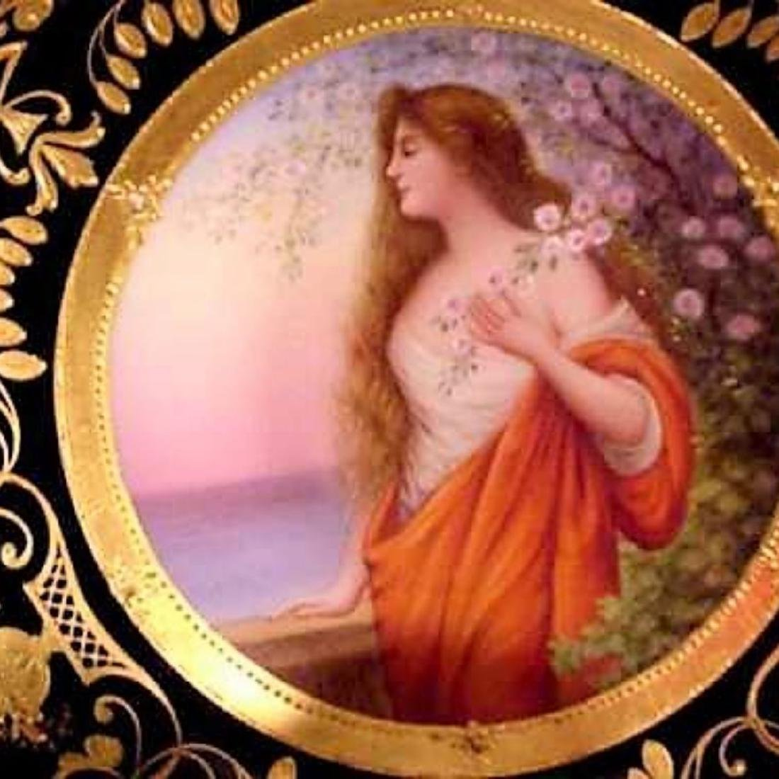 1800s HAND PAINTED MK SIGNED ROYAL VIENNA GODDESS - 5