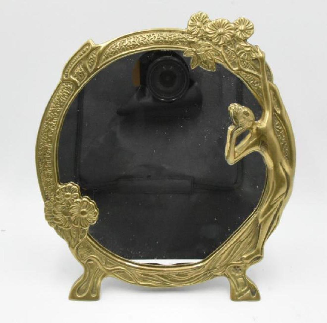 Brass Mirror with Stand