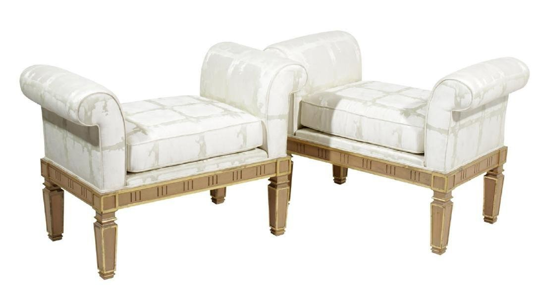 Pair Italian Neoclassical Style Window Benches