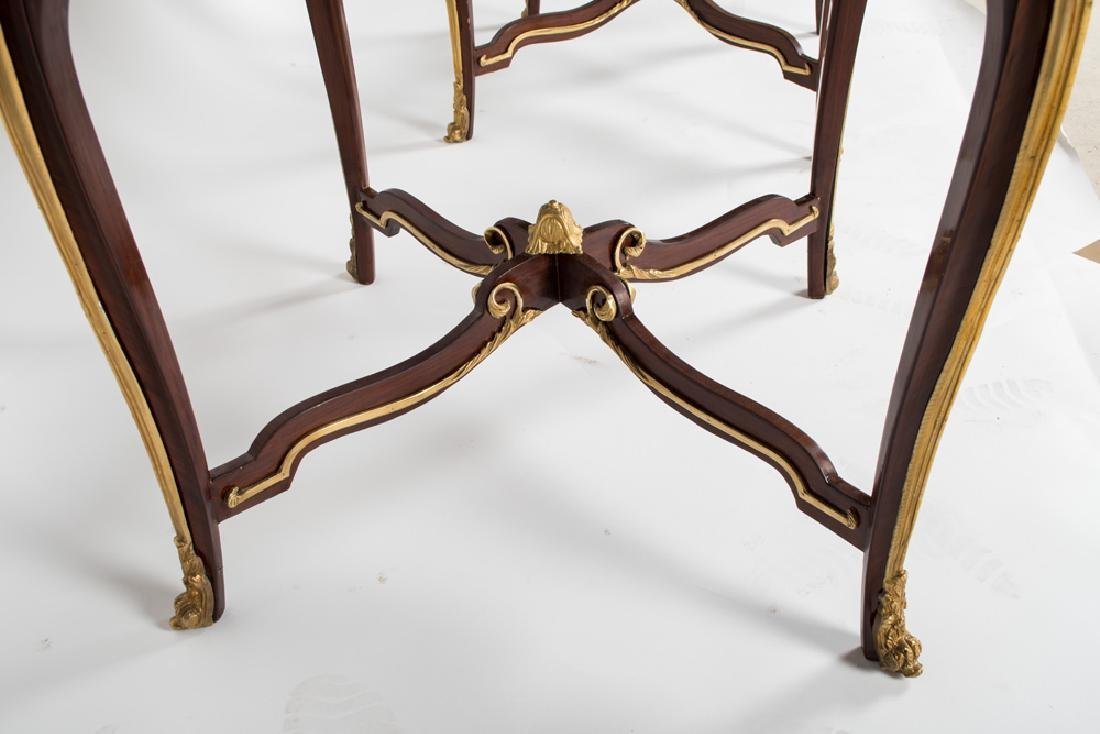PAIR OF LOUIS XV STYLE GILT MOUNTED GUERIDONS - 2
