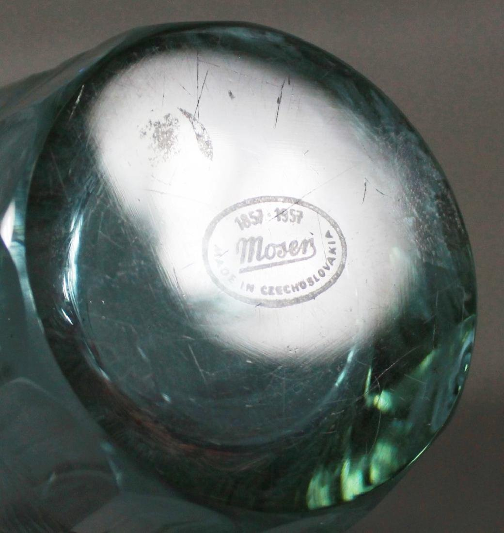 MOSER FACETED AND ENGRAVED GLASS DICHROIC VASE - 4