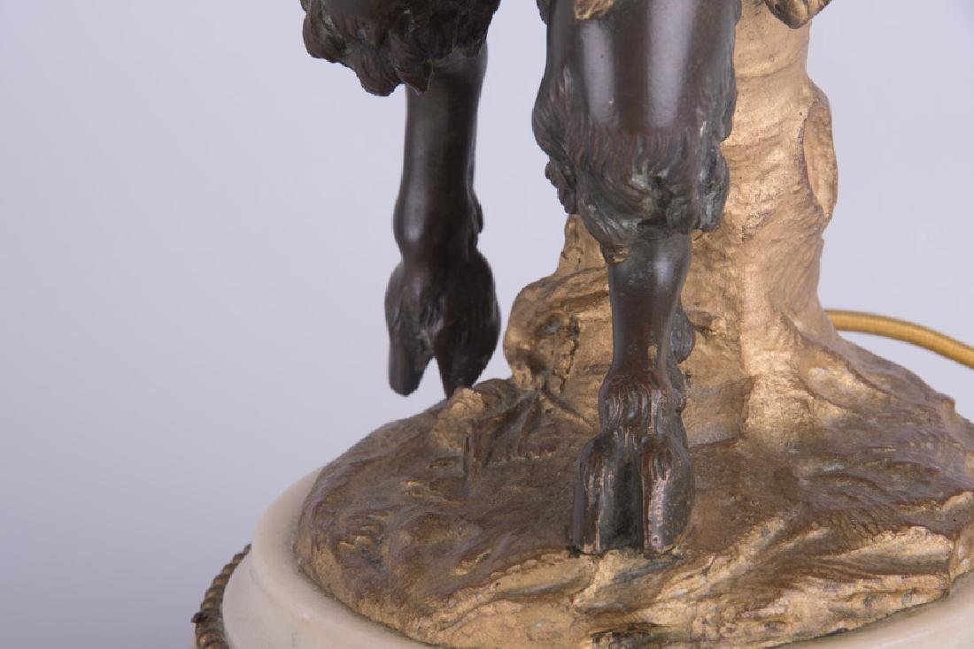 PAIR OF 19TH C. FRENCH BRONZE & MARBLE FIGURAL - 8
