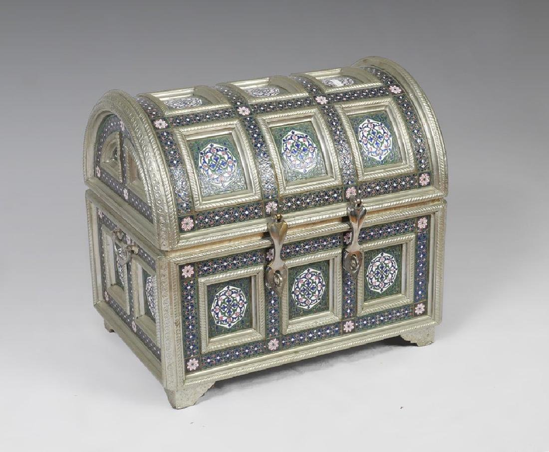 PERSIAN STYLE ENAMELED TRUNK