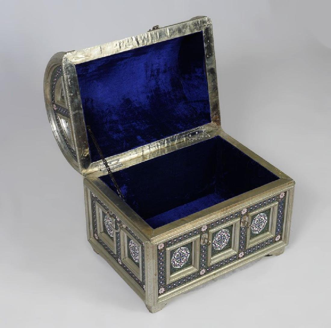 PERSIAN STYLE ENAMELED TRUNK - 2