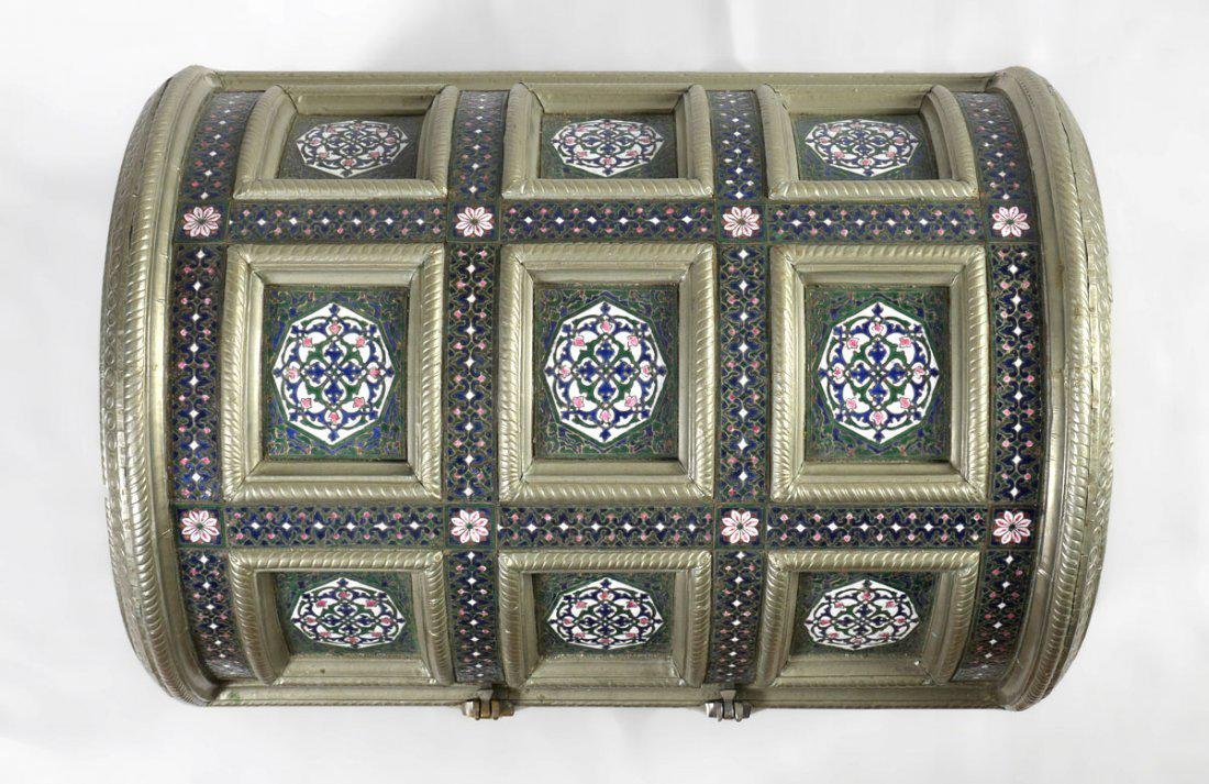 PERSIAN STYLE ENAMELED TRUNK - 3