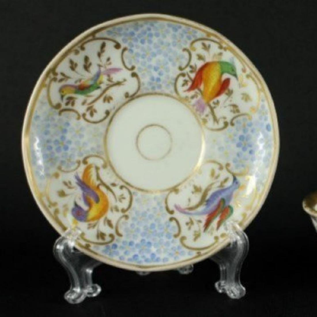 BEAUTIFUL ANTIQUE BERLIN GERMAN CUP AND SAUCER