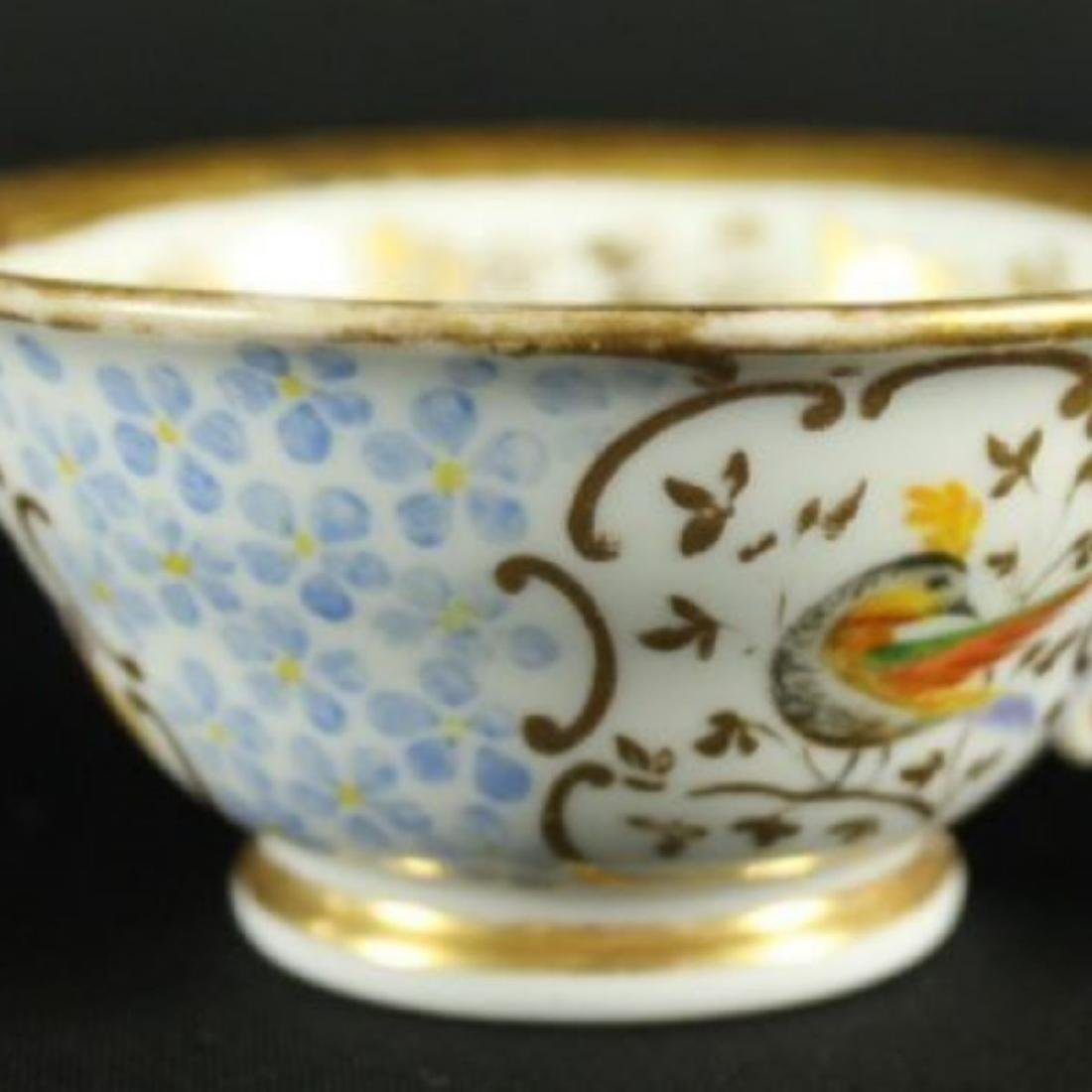 BEAUTIFUL ANTIQUE BERLIN GERMAN CUP AND SAUCER - 2