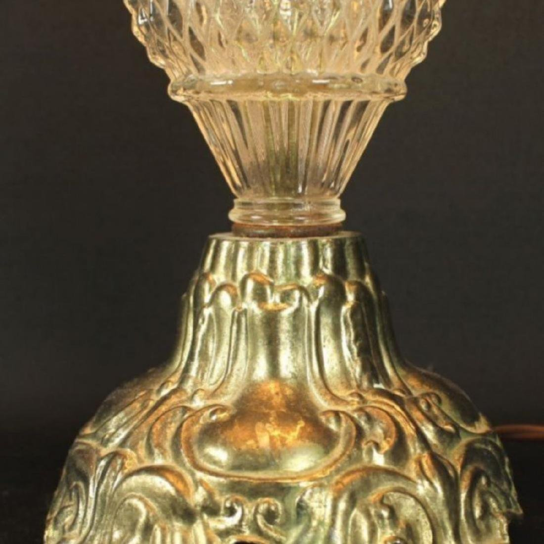 Antique Bronze and Cut Glass Lamps - 3