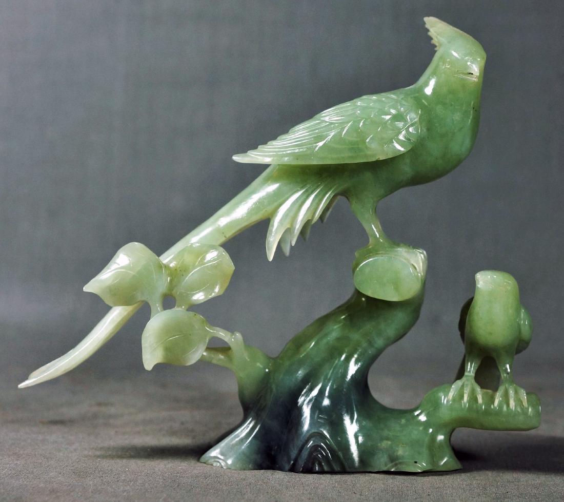 CHINESE CARVED STONE BIRD GROUP