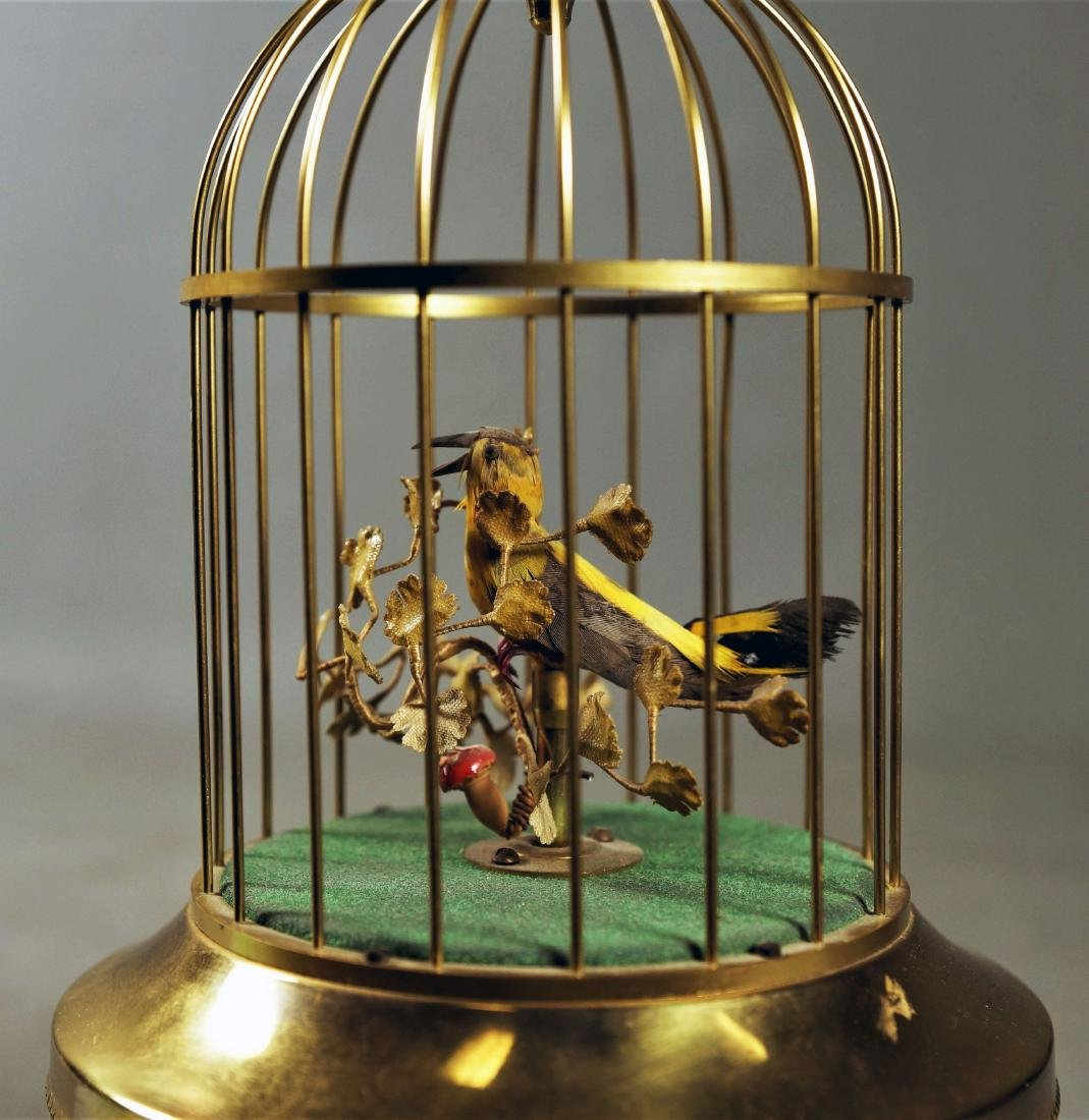 GERMAN BIRDCAGE MUSIC BOX - 2