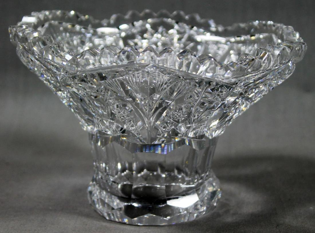 ANTIQUE ABP CUT GLASS EGGNOG BOWL