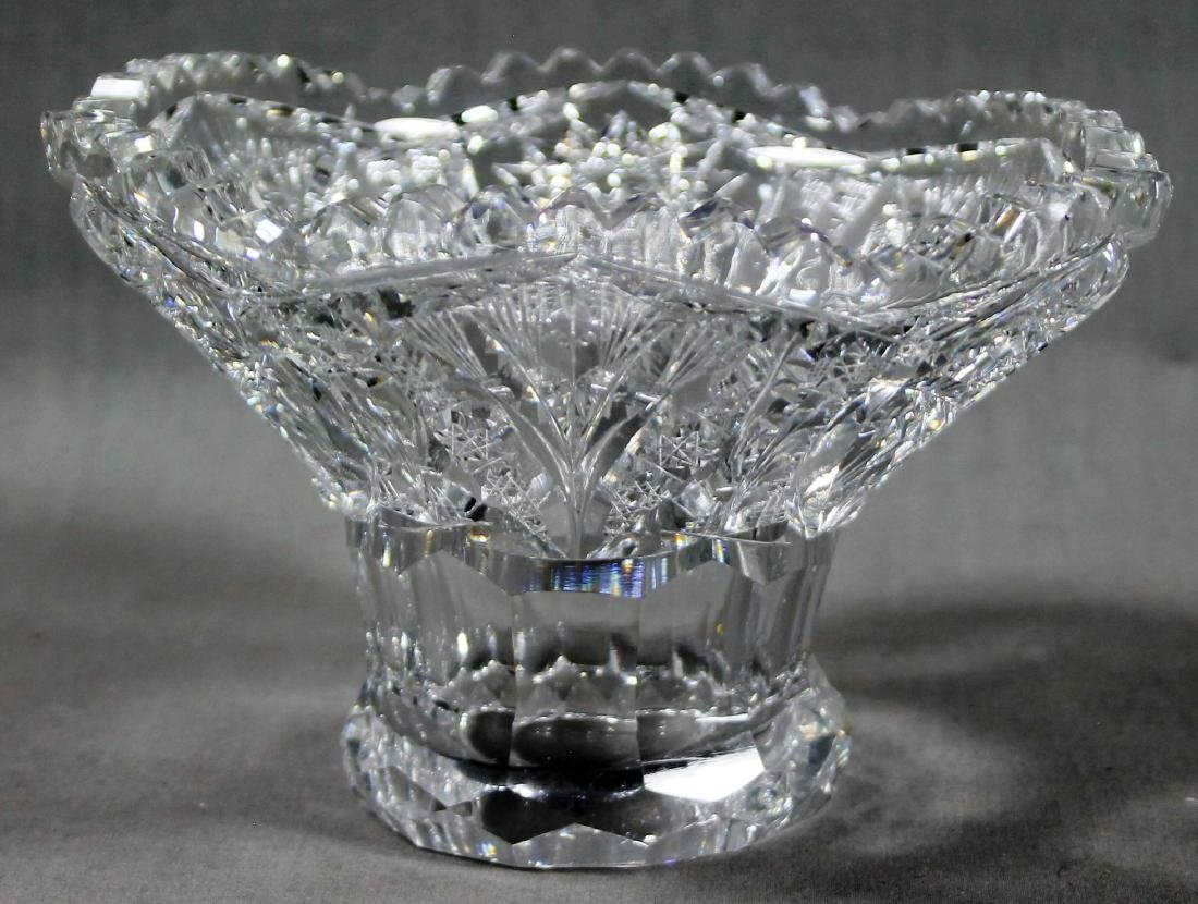 ANTIQUE ABP CUT GLASS EGGNOG BOWL - 2