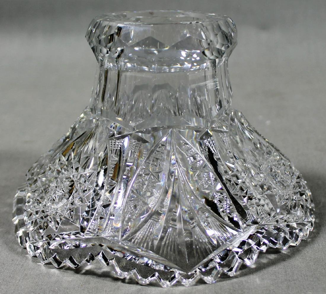 ANTIQUE ABP CUT GLASS EGGNOG BOWL - 3