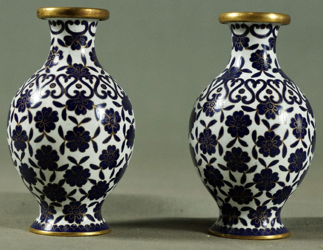 """Pair of Miniature Chineses Vases 4"""" in Hight"""