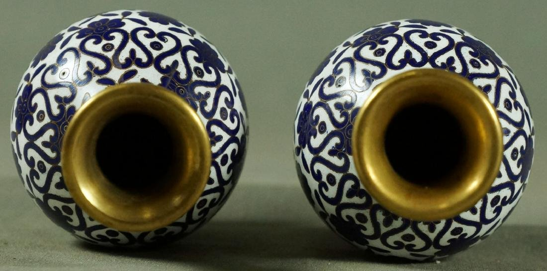 """Pair of Miniature Chineses Vases 4"""" in Hight - 2"""