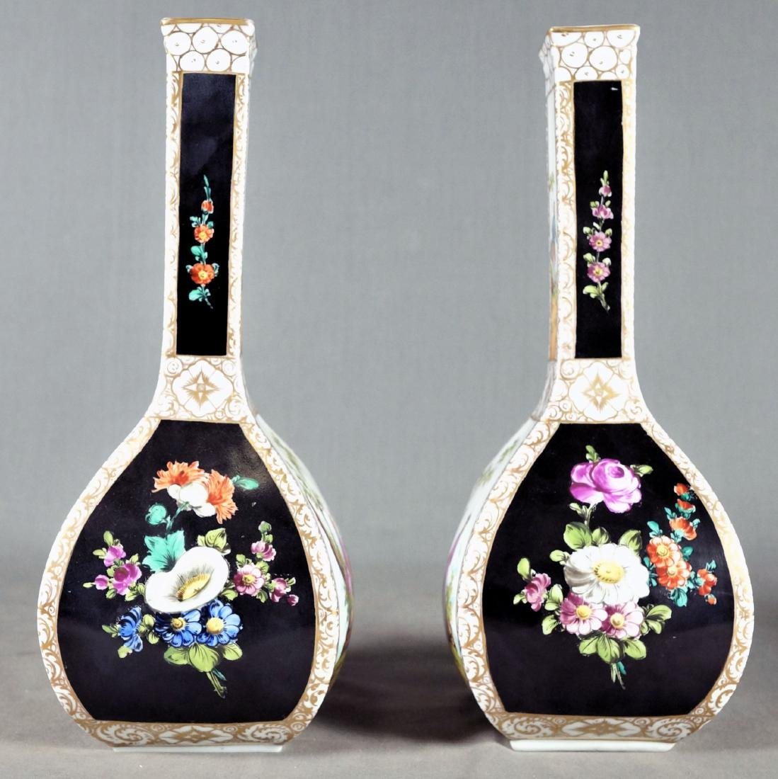 PAIR OF DRESDEN PORCELAIN VASES - 2
