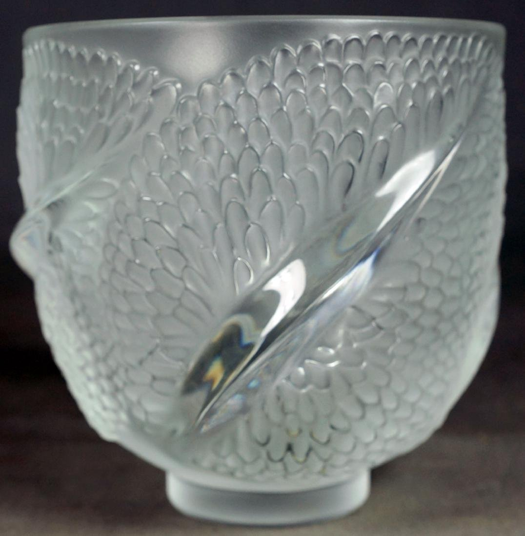 LALIQUE MOLDED GLASS VASE