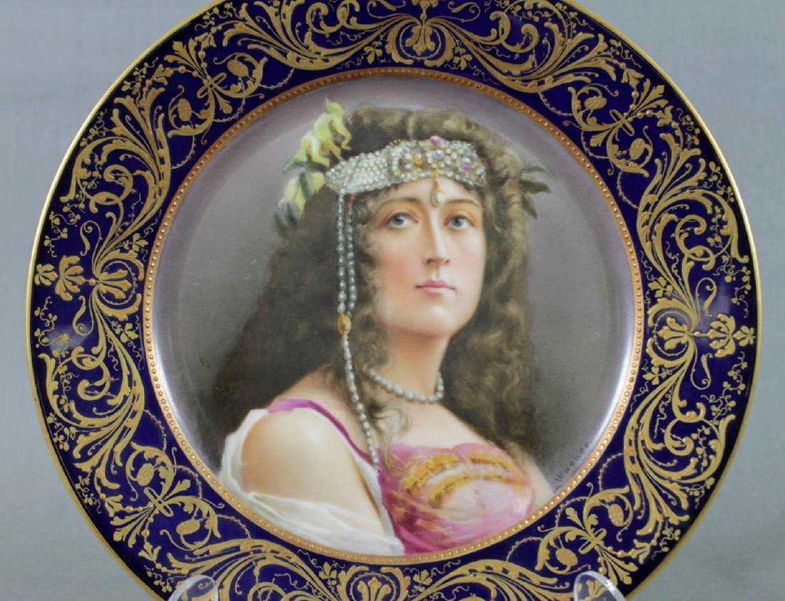 19TH C. ROYAL VIENNA PLATE SIGNED WAGNER - 2