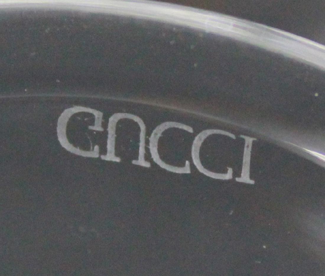 Set of 8 Gucci Glass Gilded Rim Goblets - 2