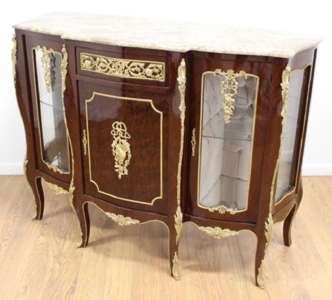 Louis XV Style Marble Top Sideboard - 3