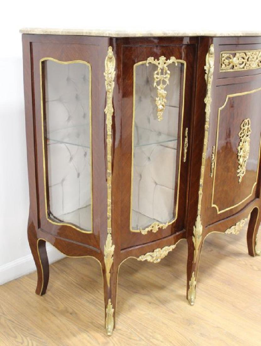 Louis XV Style Marble Top Sideboard - 4