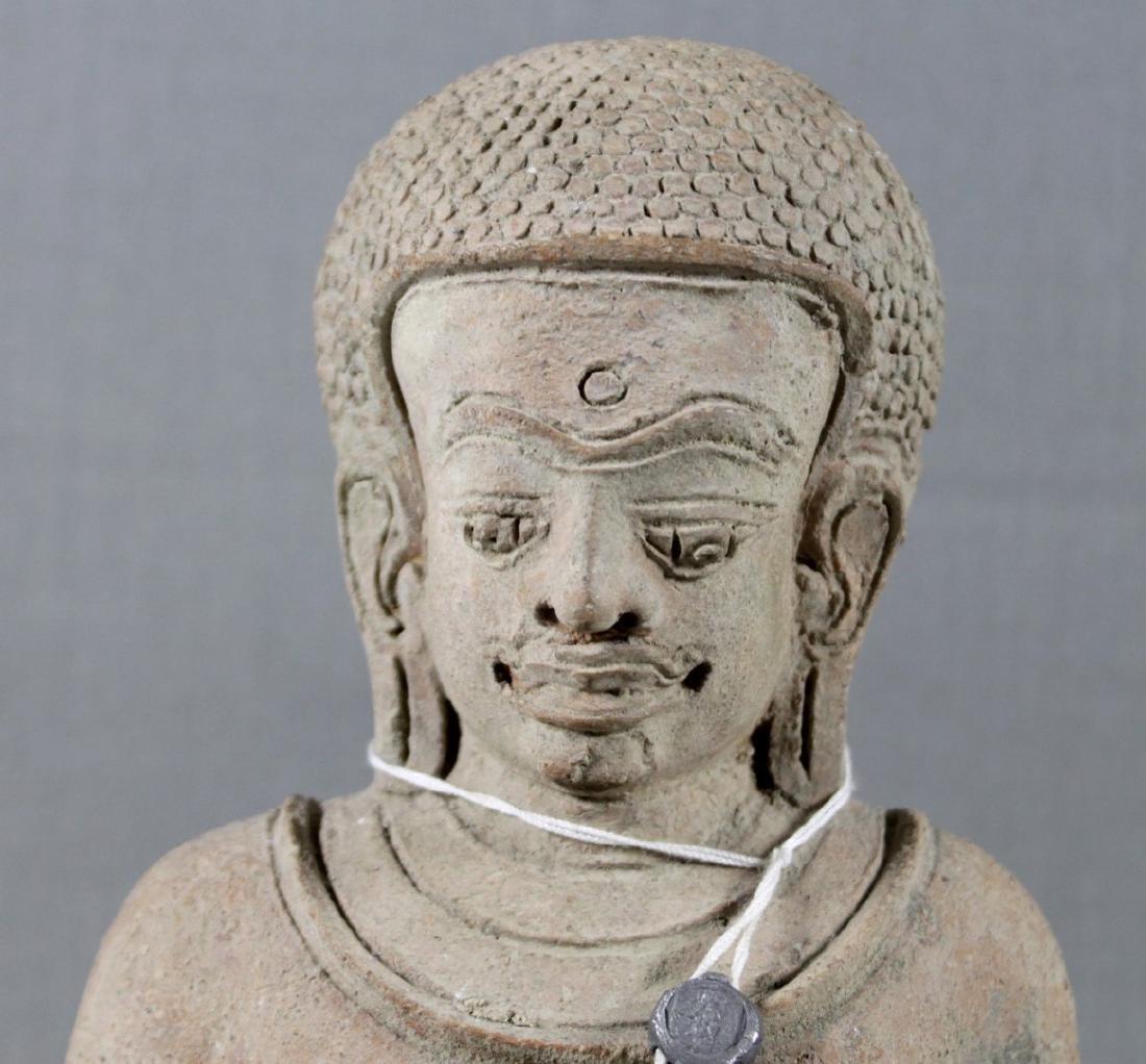 SOUTHEAST ASIAN SEATED STONE FIGURE OF BUDDHA - 2