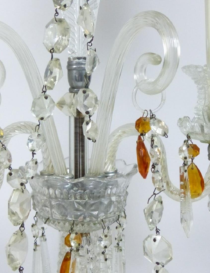 PAIR OF CRYSTAL GIRONDOLE TABLE LAMPS - 4