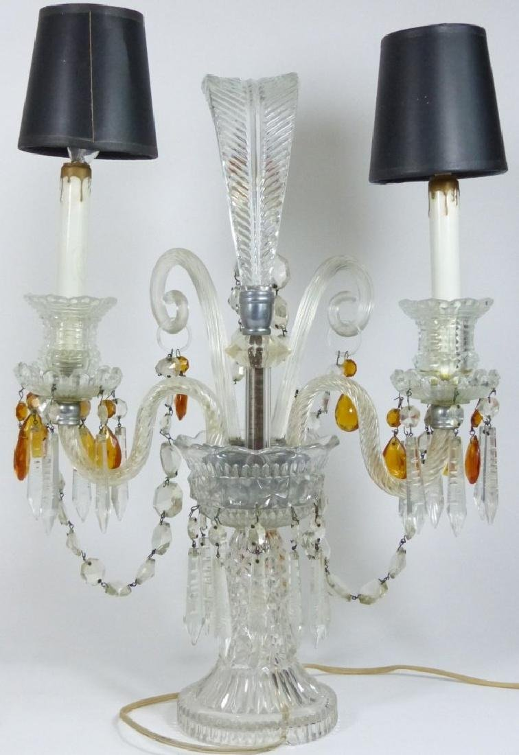 PAIR OF CRYSTAL GIRONDOLE TABLE LAMPS - 5