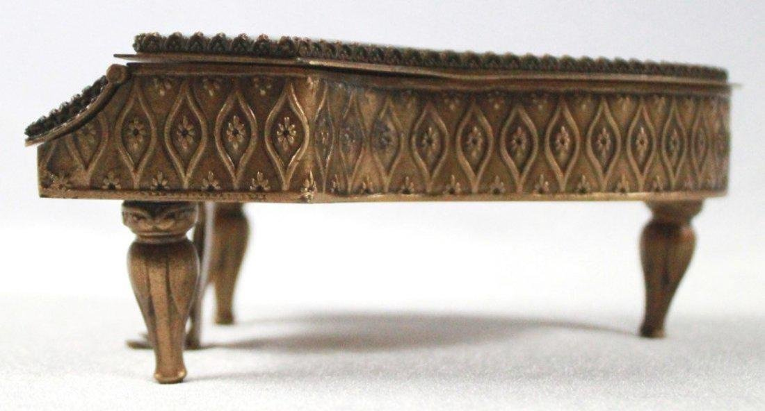 19TH C VIENNESE ENAMEL MINIATURE PIANO - 3