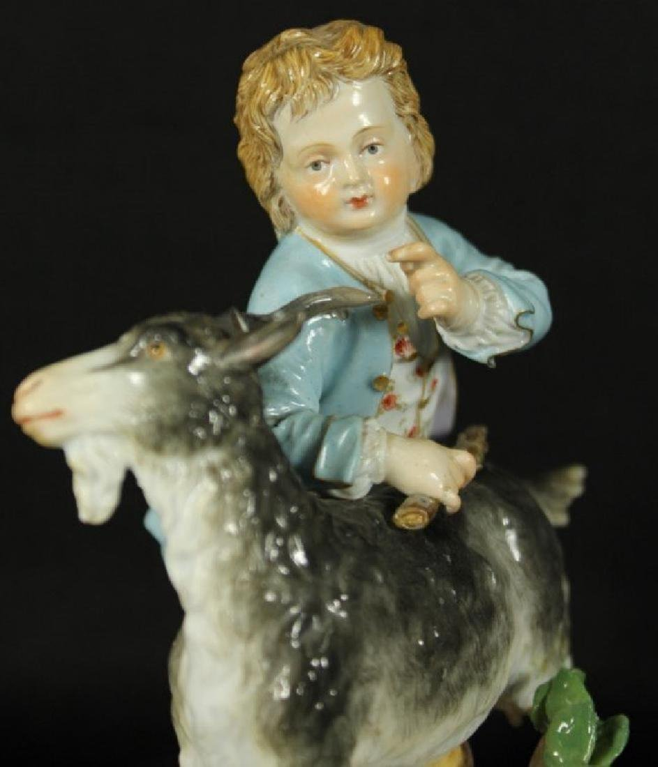 MEISSEN FIGURE OF MAN WITH GOAT - 2