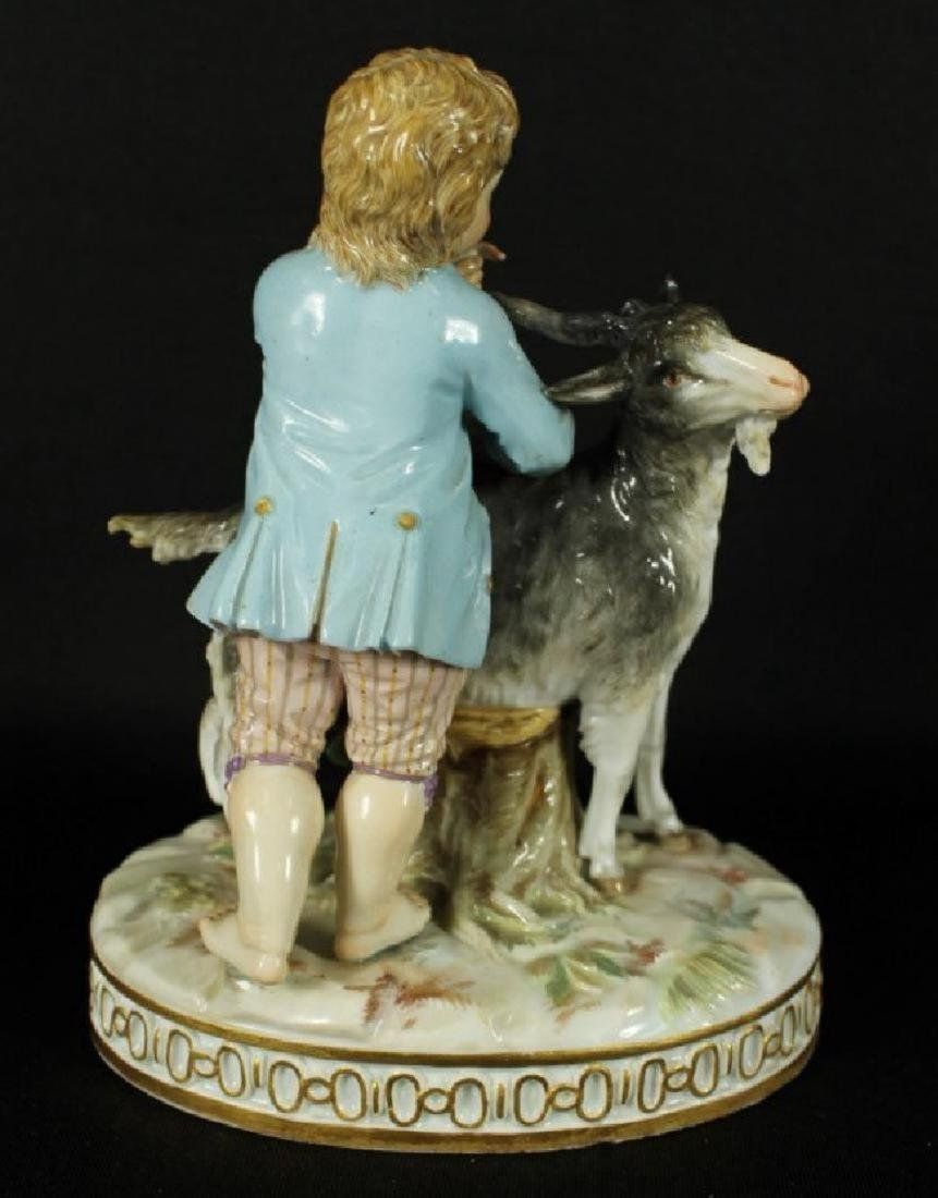 MEISSEN FIGURE OF MAN WITH GOAT - 3