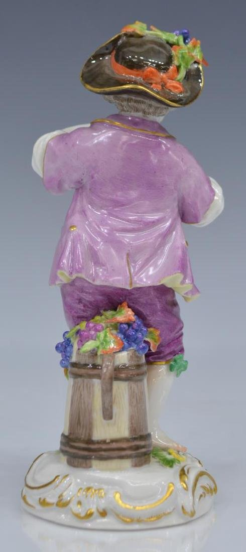 19TH C. MEISSEN FIGURE OF BOY WITH FLUTE - 2