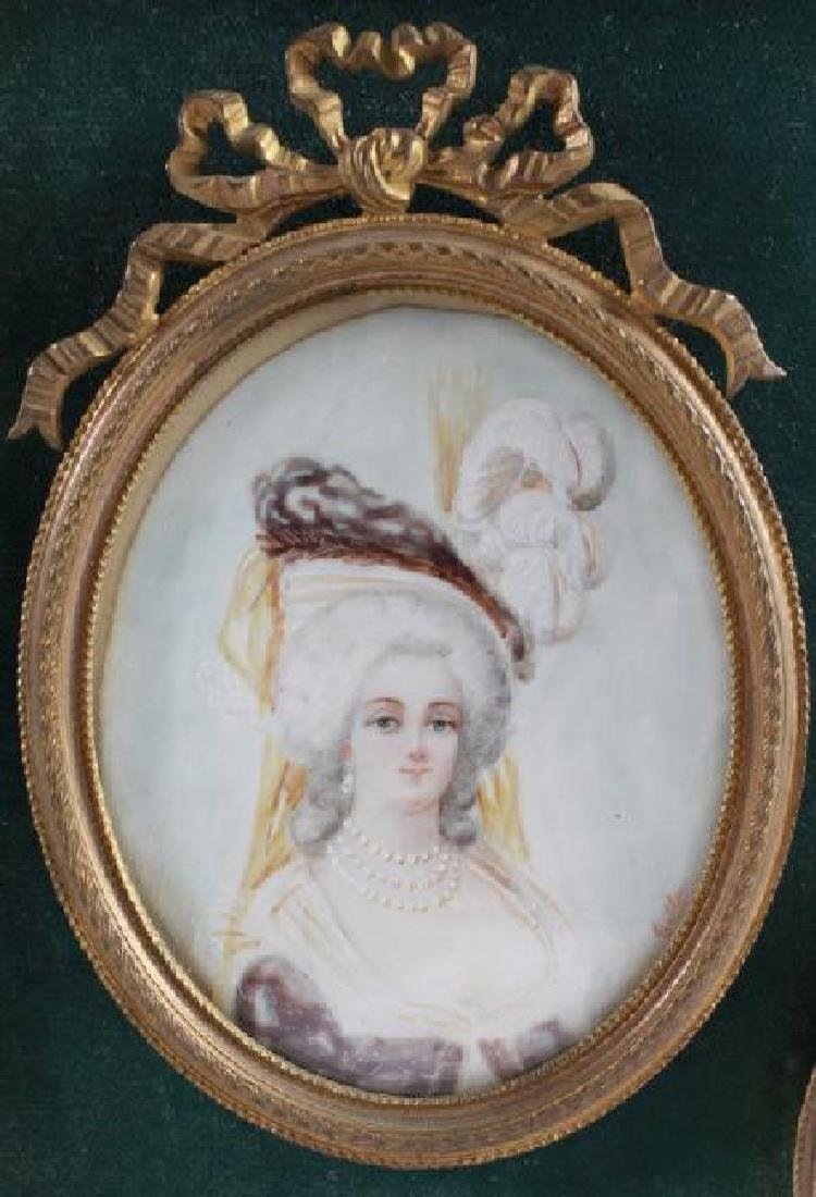 PORTRAIT OF 3 WOMEN IN 18TH C COSTUME - 2