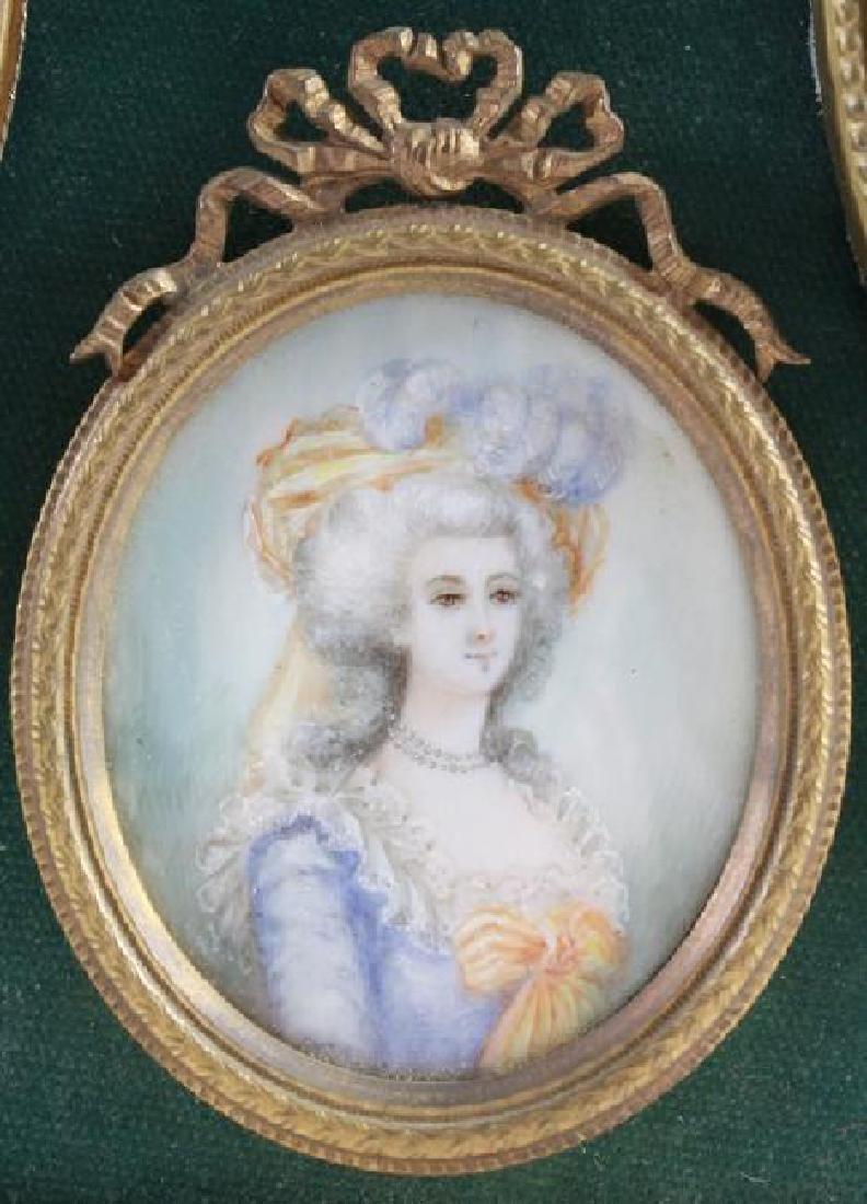 PORTRAIT OF 3 WOMEN IN 18TH C COSTUME - 4