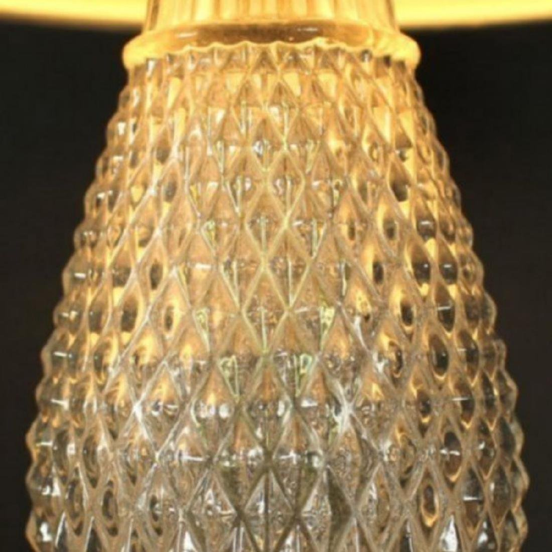 Antique Bronze and Cut Glass Lamps - 4