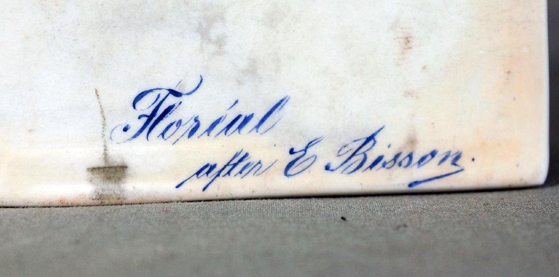 Gebruder Heubach porcelain plaque Floreal after E - 3