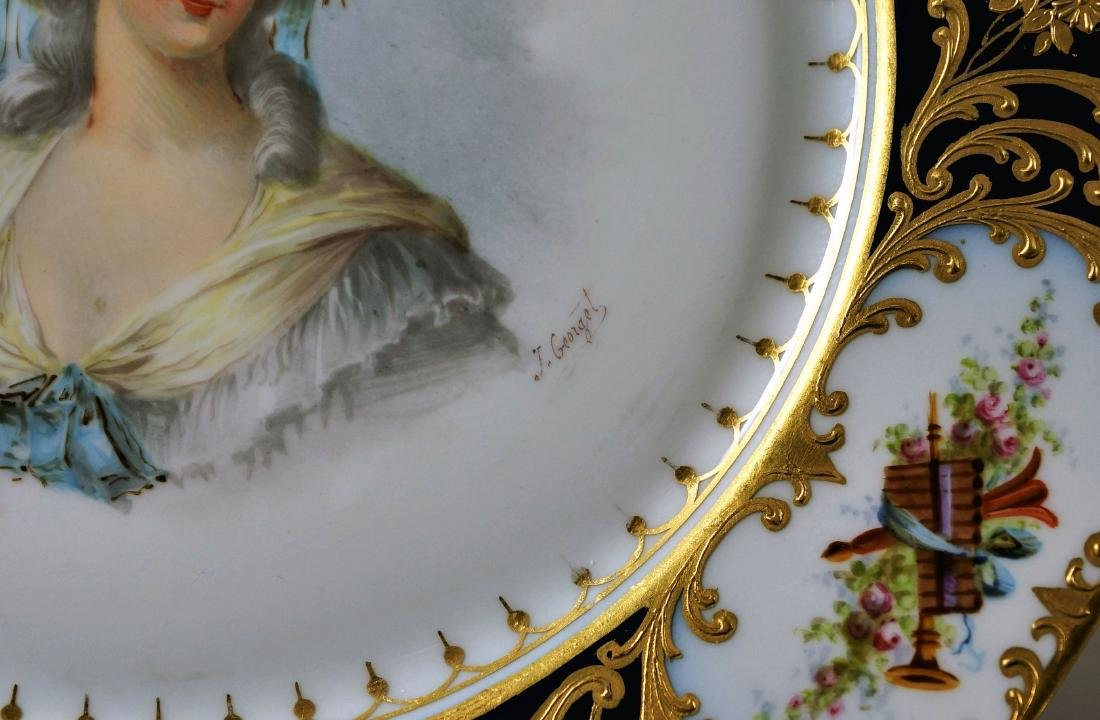 Sevres-Style and Royal Vienna-Style Porcelain Plate - 2