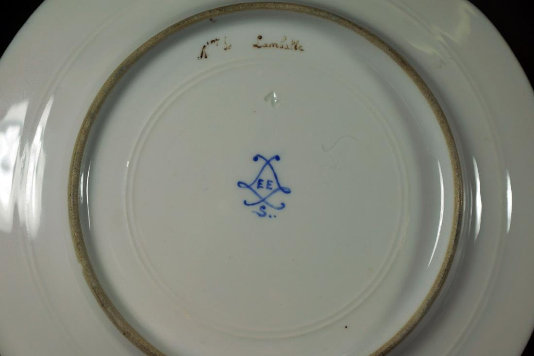 Sevres-Style and Royal Vienna-Style Porcelain Plate - 3