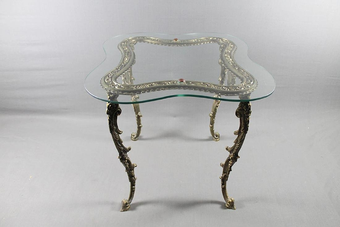 GILT METAL LAMP TABLE - 3