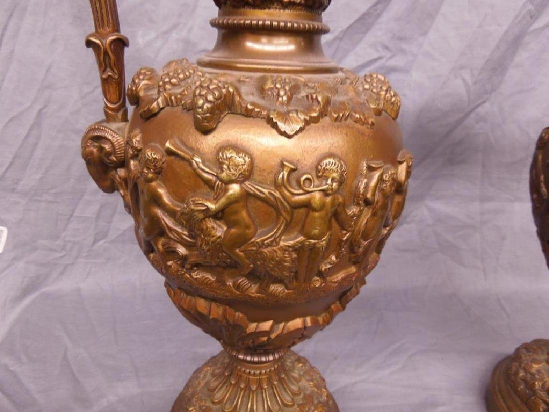 Pr Renaissance Style Bronze Ewers - 3