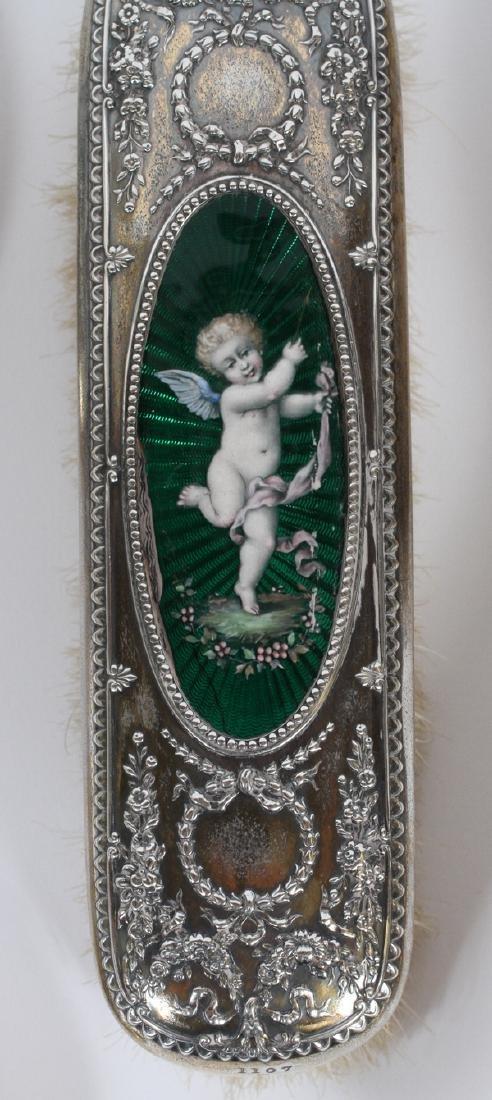Gorham Guilloche And Sterling Dresser Set 1896 - 2