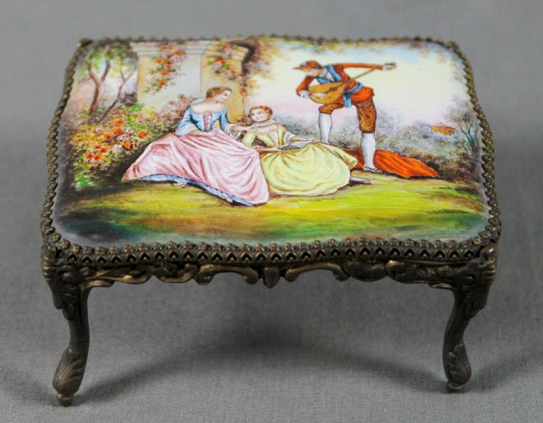 7 Pc. Viennese Enamel Miniature Furniture Set - 2